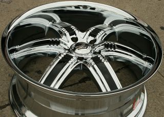 Viscera 777 22 Chrome Rims Wheels Dodge RAM 1500 2WD 4WD 94 10 22 x 9