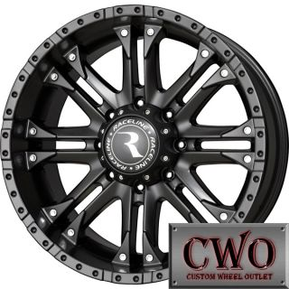 20 Black Raceline Octane Wheels Rims 8x165 1 8 Lug Chevy GMC Dodge