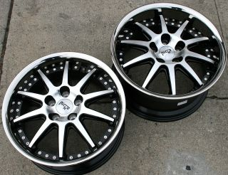 NICHE SPA M879 18 BLACK RIMS WHEELS FORD MUSTANG V6 V8 / 18 x 8.0/9.5