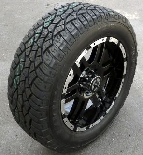 20 Black Wheels Tires Ford Truck F150 Expedition 20x9 20 inch 6x135 6