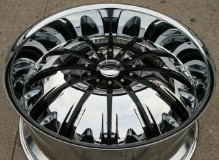 GWG Genesis G25 24 Chrome Rims Wheels Tahoe Avalanche Escalade