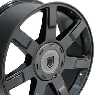 22 Fits Cadillac Escalade Style Wheel Rim Black Chrome 22x9