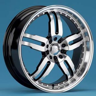 VOLANTE P10 COMPETITION WHEELS 4 NEW 18X7.5 MACHINE BLACK RIMS 5 LUG
