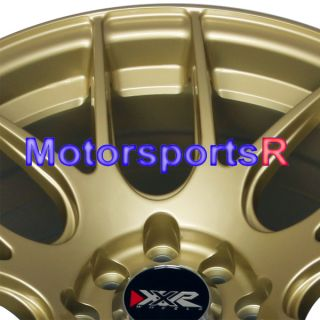 16 16x8 XXR 530 Gold Concave Rims Wheels Stance 4x100 98 Honda Civic