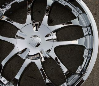 Strada A Arm 132 22 Chrome Rims Wheels Lexus GS300 sc400 GS400 22 x 8