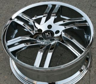 Koko KOUTURE Spline 20 Chrome Rims Wheels Jaguar x Type x Type 20 x 8