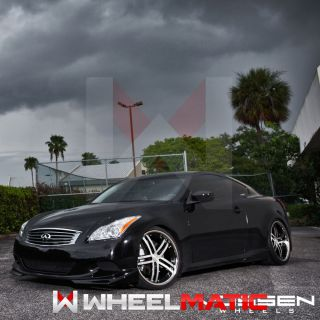 20 Vossen 85 20x9 10 5 5x112 32 42 Black Machined Wheels Rims