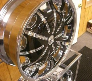 20Rockstarr 557 Wheels Chrome Black Rims and Tires 22 24 26 28 Chevy