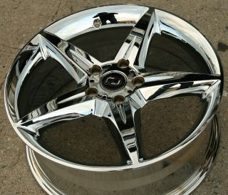 Ron Jon Servo 17 Chrome Rims Wheels Honda Civic DX GX EX LX 06 Up 5
