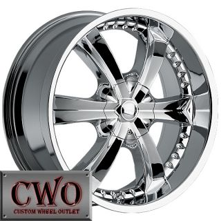 22 Chrome Cattivo 726 Wheels Rim 5x127 5x139 7 5 Lug Jeep Wrangler