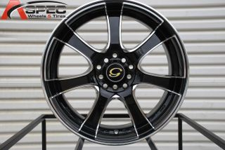 17X7 G LINE G453 WHEEL 5X100/114.3 +40 BLACK MACHINE RIM FITS RSX TSX