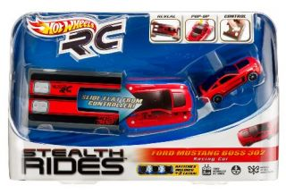 Features of Hot Wheels RC Stealth Rides Racing Car   Ford Mustang Boss