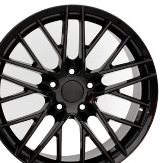 18 Corvette C6 ZR1 Black Wheels Set of 4 Rims Fits Chevrolet