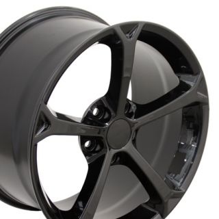 18 Corvette C6 Black Grand Sport Wheels Set of 4 Rims Fits Chevrolet