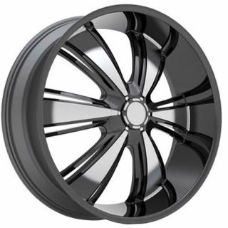 22x9 Black Rev 955 Wheels Blank 30