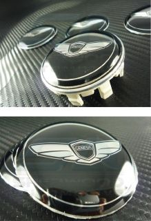 2013 Genesis Coupe 18 Wheels Wing Wheel Cap Emblem Set 4pc