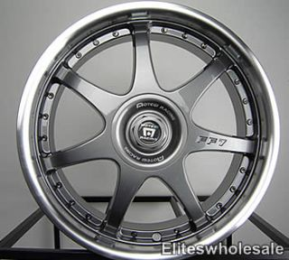 17x7 Gunmetal Wheels Rims Motegi FF7 5x100 5x4 5