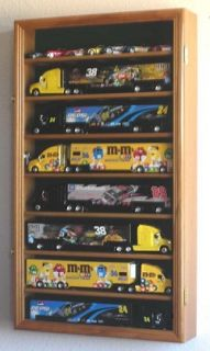 64 Scale Hot Wheels Semi Big Rig Trailer Truck Display Case Cabinet