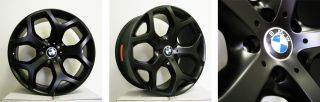20 Matte Black Staggered Wheels Fit BMW x5 E70 Second Generation 2006