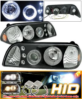 Xenon 87 93 Ford Mustang Halo LED Projector Headlights