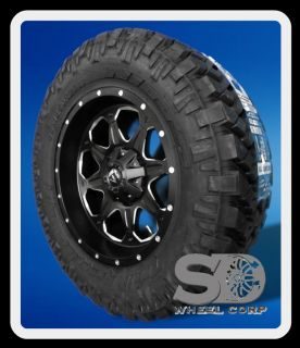 20 FUEL OFF ROAD BOOST BLACK RIMS & 35X12.50X20 NITTO TRAIL GRAPPLER