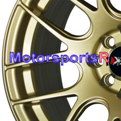 16 16x8 XXR 530 Gold Concave Rims Wheels 4x100 82 83 BMW E21 Honda