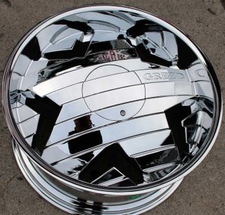 Greed Krisp 834 22 Chrome Rims Wheels Chrysler 300 300C AWD