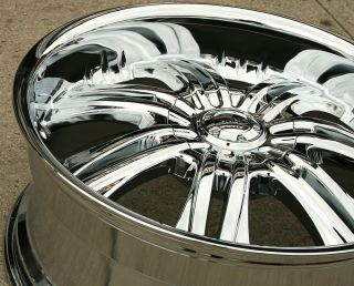 Overlord 523 22 Chrome Rims Wheels Cadillac Escalade 99 Up