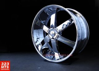 inch Rims Wheels Phantom PW58 SIXER Wheels Rims All Chrome Rims
