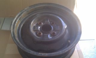 1966 1967 Ford Falcon Mustang 14 inch 4 Lug Steel Wheel Rim