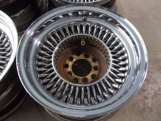 13x7 Wire 80 Spoke Steel Wheels Rims 5 Lug Lowrider Low Rider