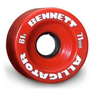 Bennett Alligator Skateboard Wheels 71mm 81A Red