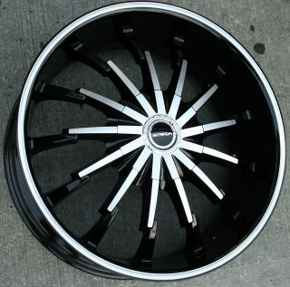 Strada Stiletto 262 22 Black Rims Wheels Fusion Flex Mustang 22 x 8 5