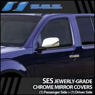 Chrome Mirror Cover includes (1) Passenger + (1) Driver Side