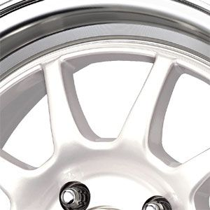 New 15X7 4 100 Dr16 White Machined Lip Wheels/Rims