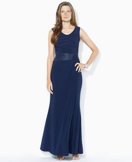 Lauren Ralph Lauren Dress, Cap Sleeve Beaded Gown   Womens Dresses