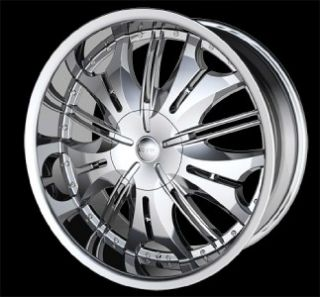 22 inch H4S Chrome Wheels Rims Chrysler 300C 5x115 13