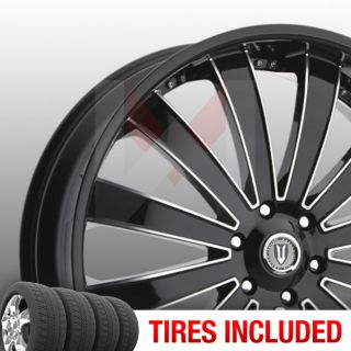of 4 New 24 Versante 225 6x139 7 25 Wheels Tires Rims Black