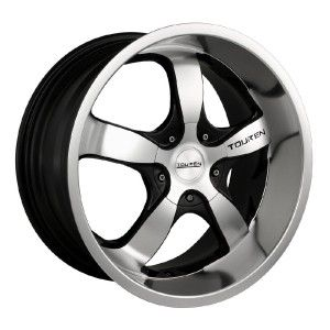 17 inch Touren TR6 Black Wheels Rims 5x110 Catera Cobalt HHR Malibu G5