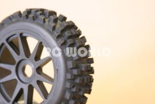 RC 1 8 Car Buggy Truck Tires Wheels Rims Package Knobby