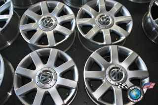 09 VW Rabbit Factory 16 Wheels OEM Rims Gold passat Jetta 5x112 69837