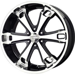 New 20x9 6x135 Liquid Metal Dyno Black Wheels Rims
