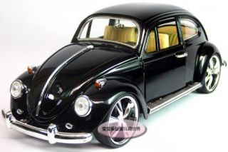 New Volkswagen Beetle Wecker 1 18 Alloy Diecast Model Car Black B117A