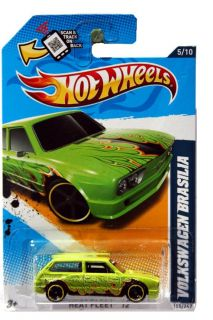 2012 Hot Wheels Heat Fleet 155 Volkswagen Brasilia Green