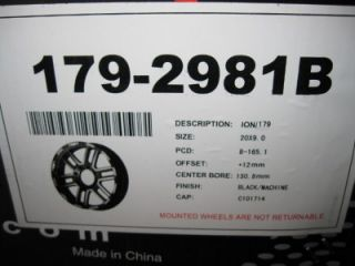 for auction is a 1 NEW ION ALLOY 179 BLACK WHEEL 20 X 9   8 X 165.1
