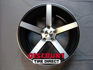 Used Staggered 20x9 20x10 5 120 5x120 Vossen Black Wheels Rims