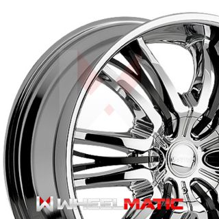 of 4 New 22 Cattivo 767 5x135/139.7 +15 Wheels Rims Chrome & Black