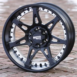 20 inch Black Wheels Rims Moto Metal 961 Chevy GMC 1500 6 Lug Trucks