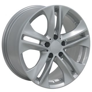 17 Rim Fits Mercedes Replica Wheels Silver 17x8 Set