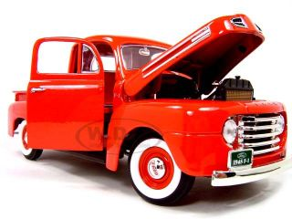1948 Ford F 1 Pick Up Red 1 18 Scale Diecast Model